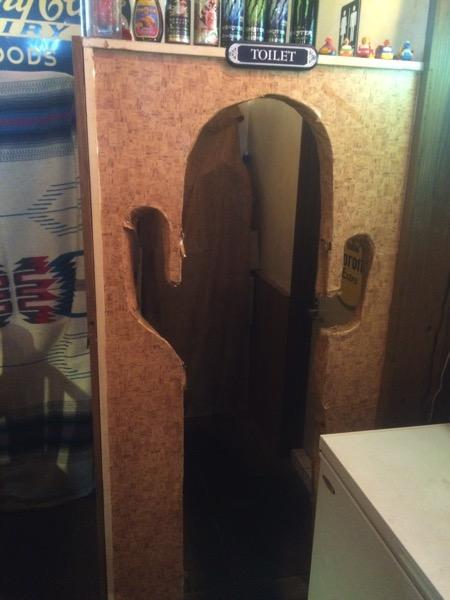 トイレでした