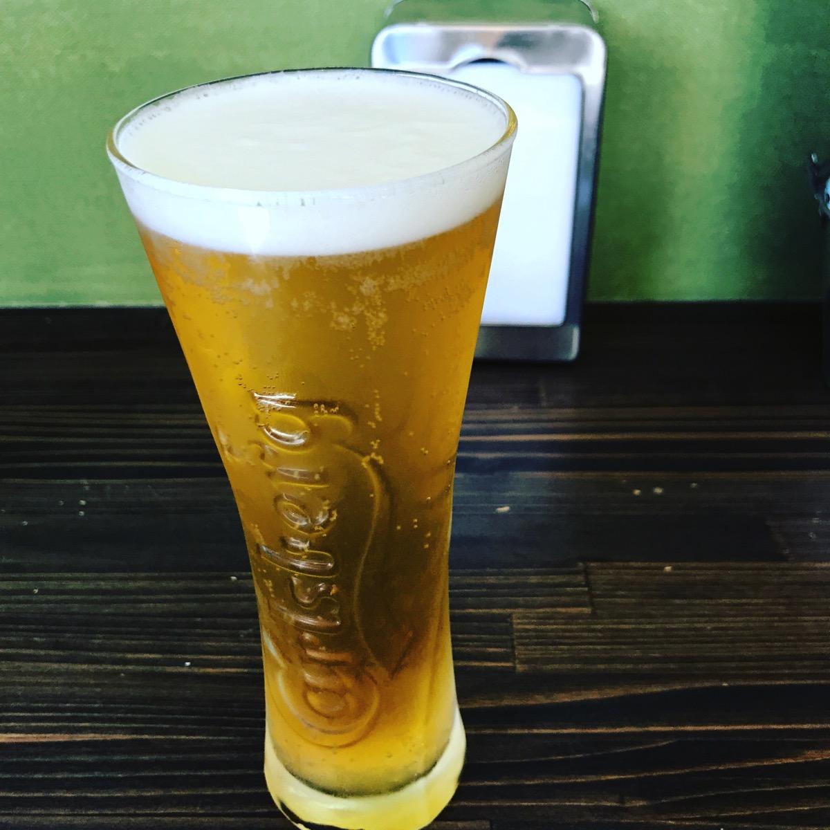 昼間からビール