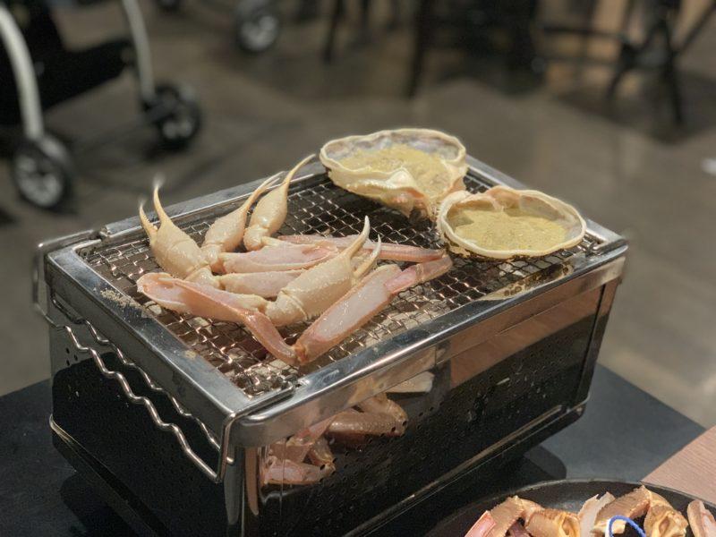 蟹の炭焼き