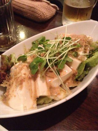豆腐とじゃこのサラダ
