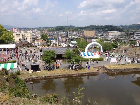 津山城からの景色