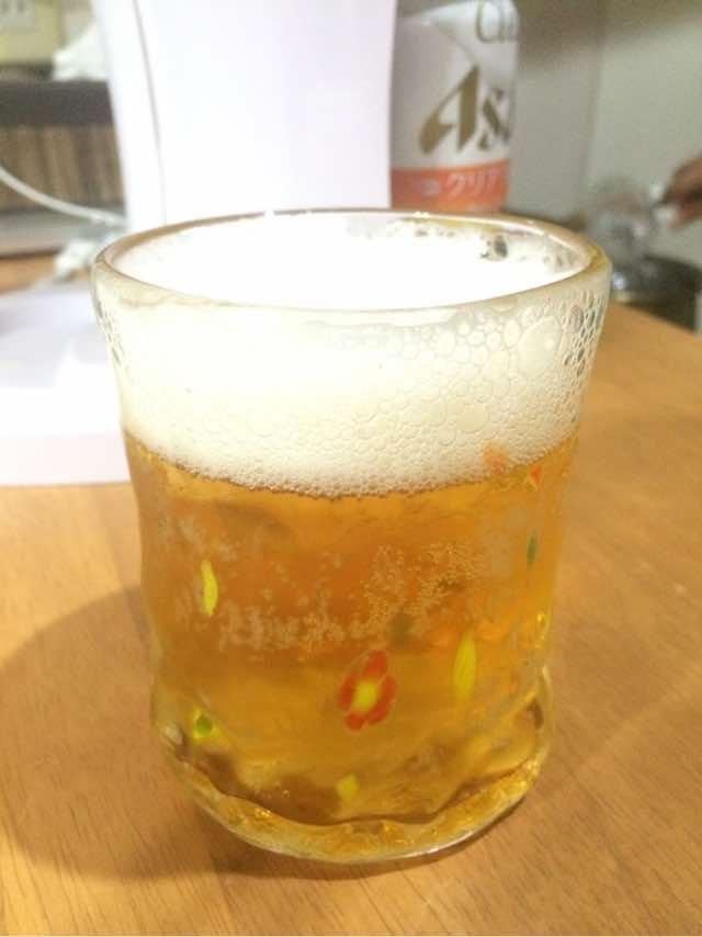 グラスを冷やして飲みましょう