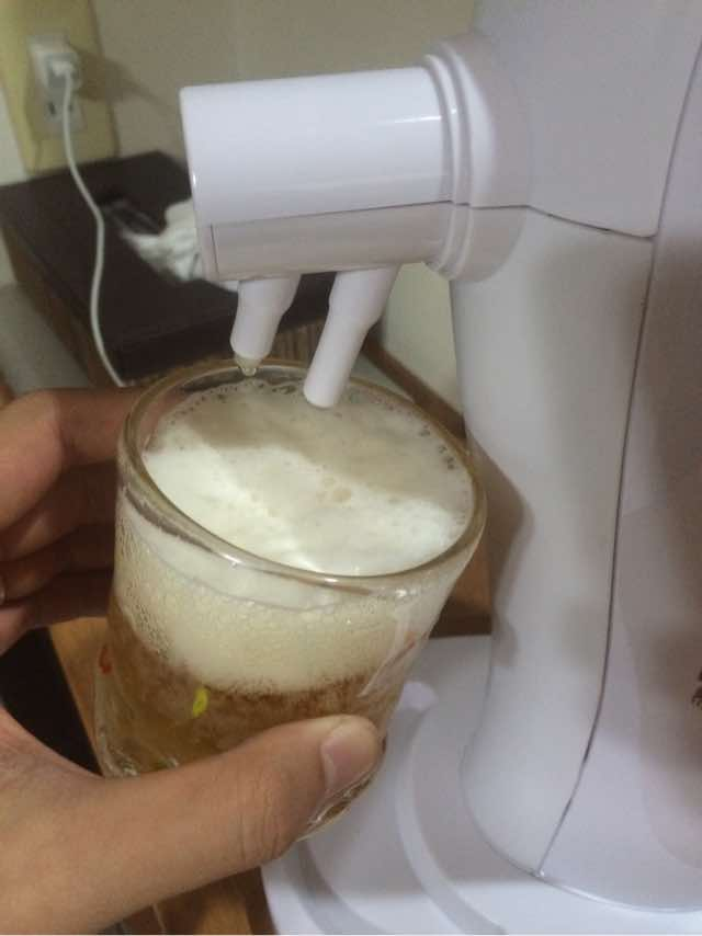 あとはビールを注ぐだけ