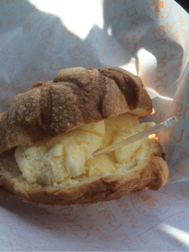 アルテリアベーカリーの美味しいメロンパン